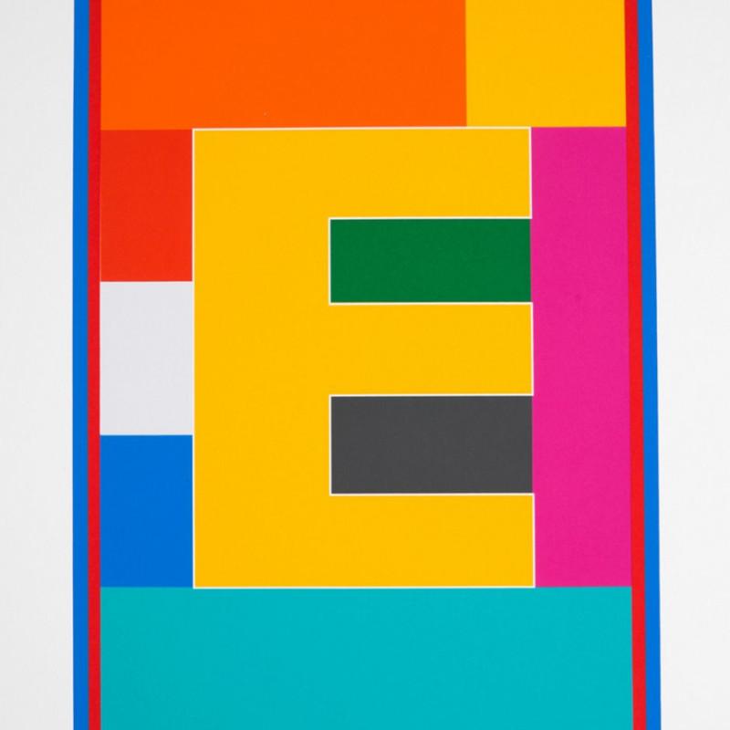Peter Blake, Dazzle Alphabet - E