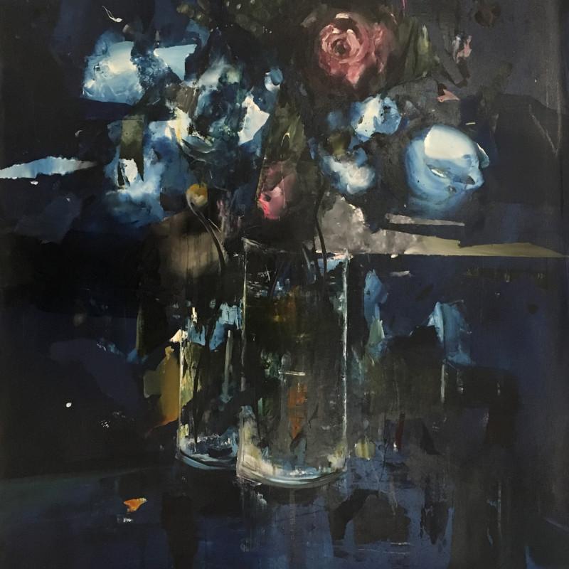Florian Eymann, Blue Flower, 2018
