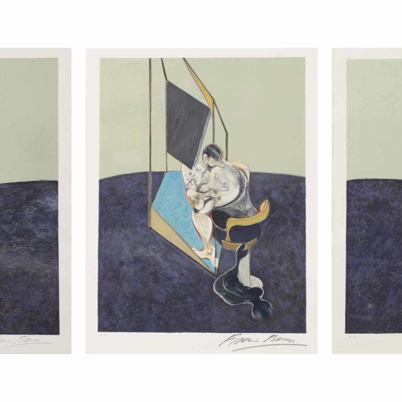 Francis Bacon, Three Studies of the Male Back, 1987