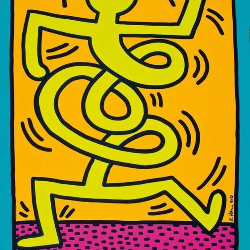 Keith Haring, Montreux Jazz Festival (Yellow Man), 1983