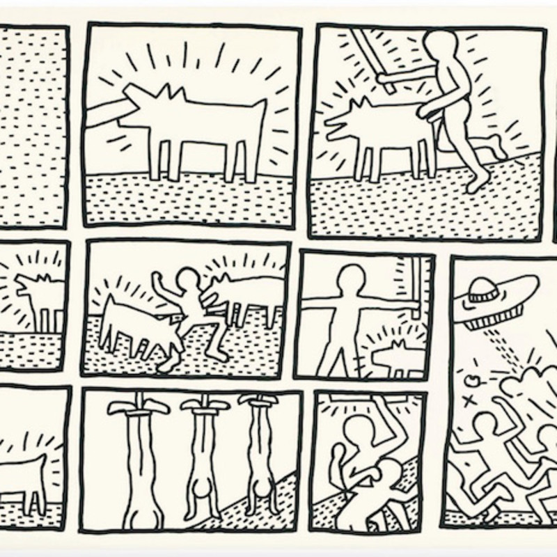 Keith Haring, Untitled (Blueprint Drawings No.1), 1990