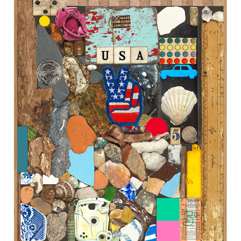 Peter Blake, USA Series - Stone and Shells