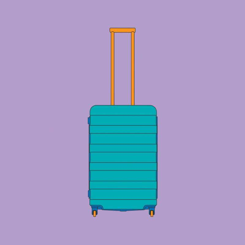 Michael Craig-Martin, 4 Wheel Suitcase