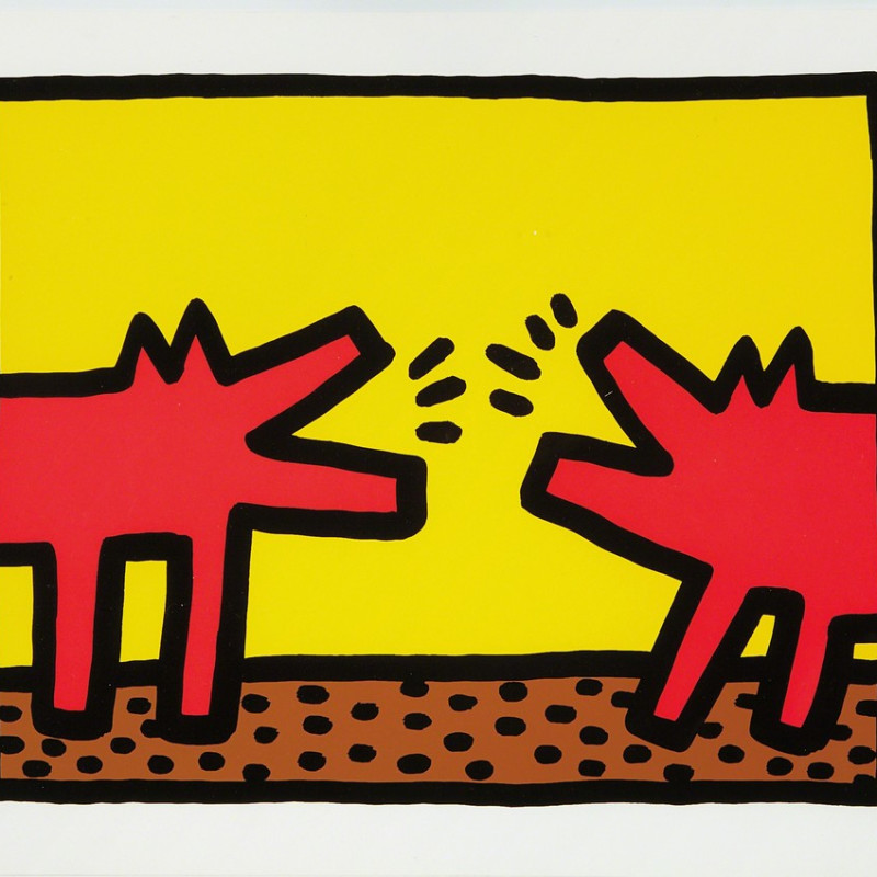 Keith Haring, Barking Dogs (Pop Shop IV), 1989