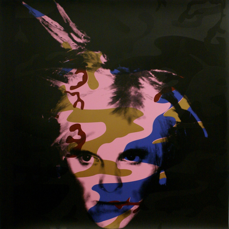 Gavin Turk, Camouflage Fright Wig - Blue and Bronze on Pink