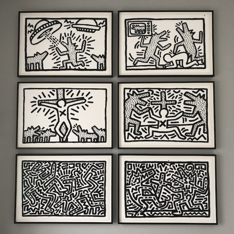 Keith Haring, Untitled (1-6 Complete Suite), 1982