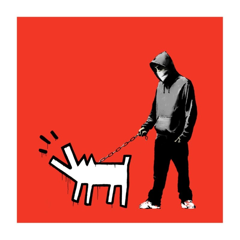 Banksy, Choose Your Weapon (Red)