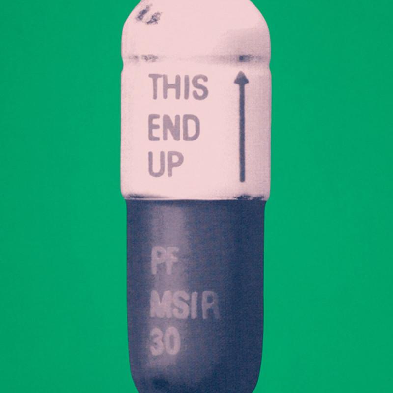 Damien Hirst, The Cure - Emerald Green/Powder Pink/Victorian Purple