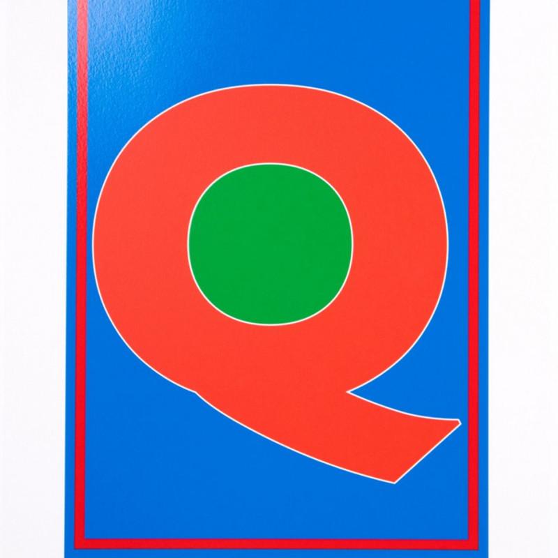 Peter Blake, Dazzle Alphabet - Q