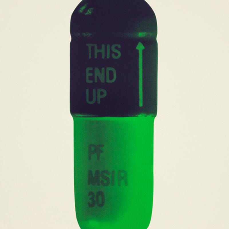 Damien Hirst, The Cure - Cream/Aubergine/Pea Green