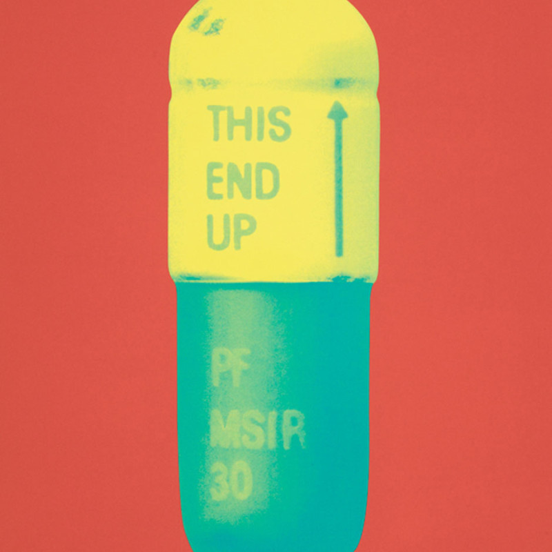 Damien Hirst, The Cure - Coral/Lemon Yellow/Turquoise