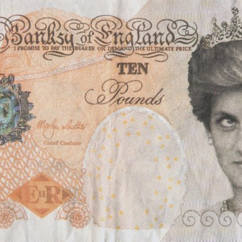 Banksy, Di-faced Tenner, 2004