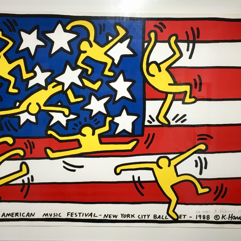 Keith Haring, American Music Festival (NYC Ballet), 1989