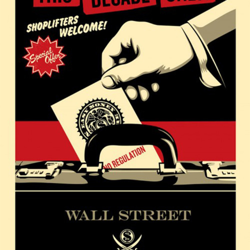 Shepard Fairey (OBEY), Shoplifters Welcome - Red