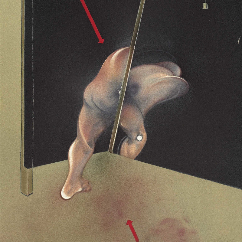Francis Bacon, Study from the Human Body, 1981