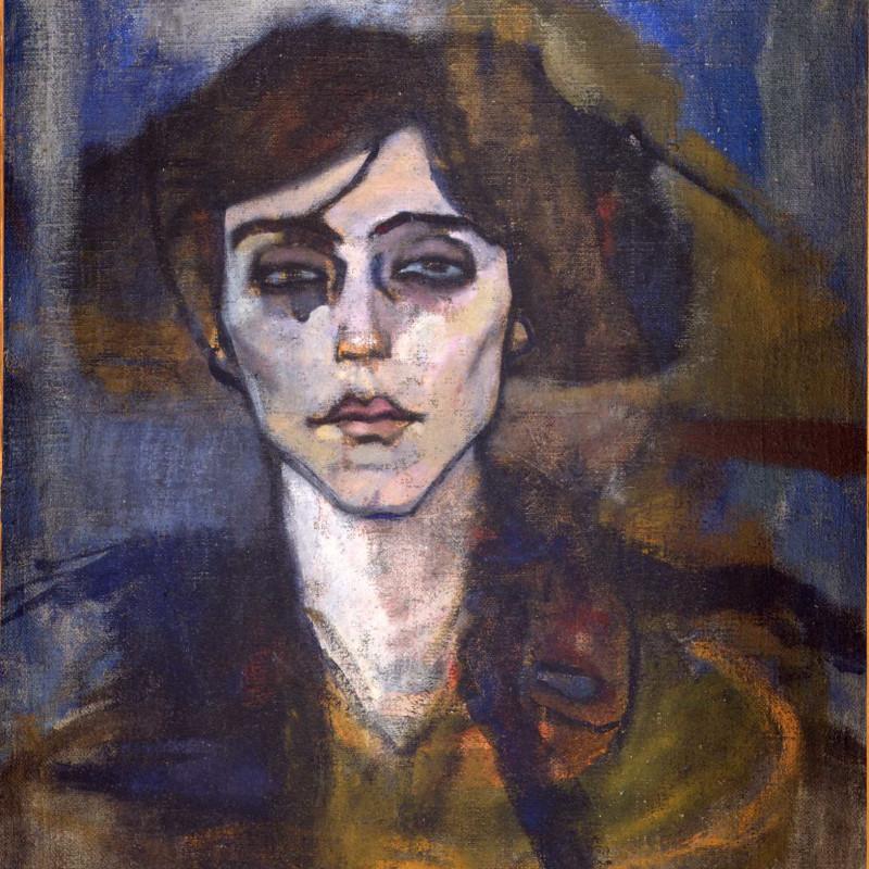 Amedeo Modigliani - Maude Abrantes (verso), 1908