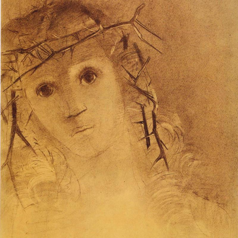 Odilon Redon - Head of Christ, c.1890's