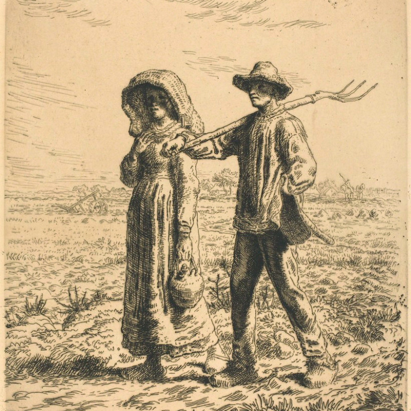 Jean-Francois Millet - The Departure for Work, 1863