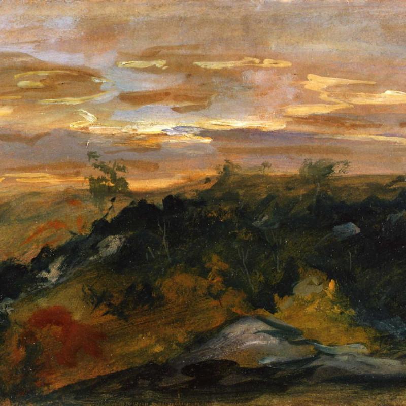 Eugene Delacroix - Sunset , c.1855