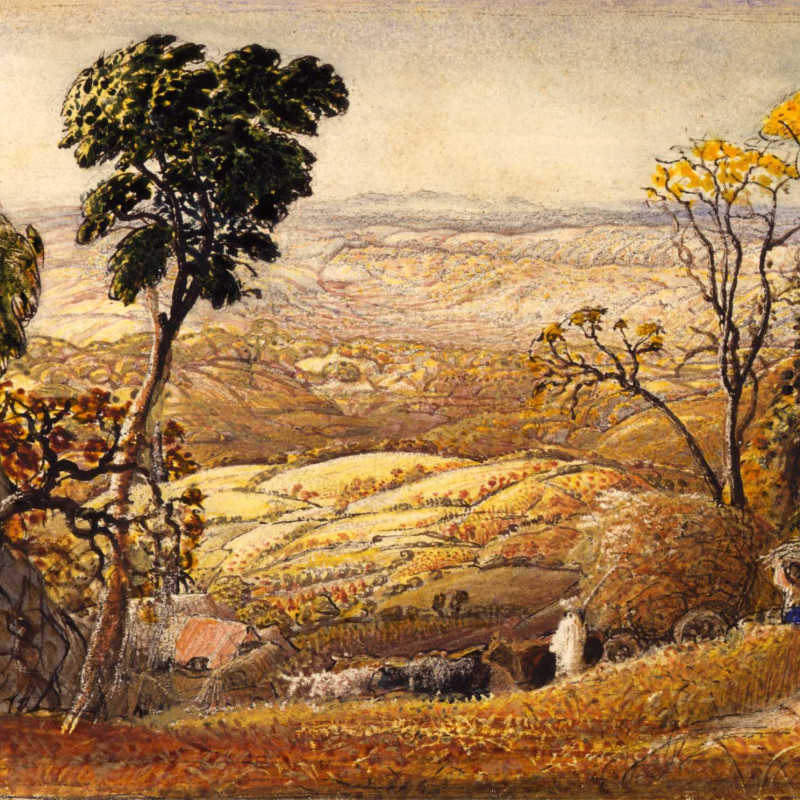 Samuel Palmer - The Golden Valley, 1833-34