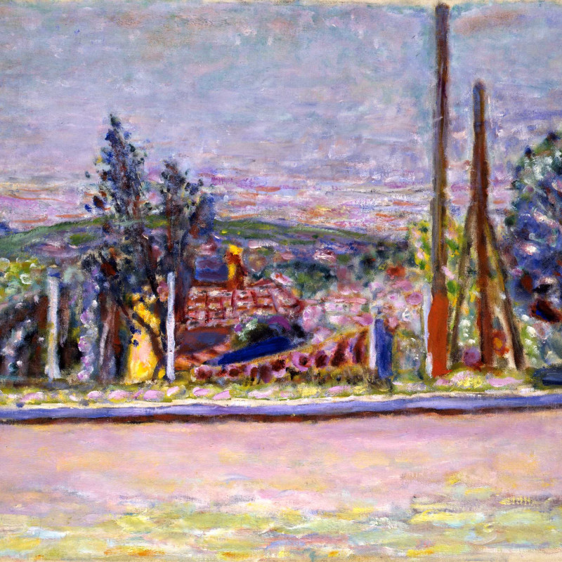 Pierre Bonnard - L'Avenue Victoria (Seen from the Artist's Garden), c.1943