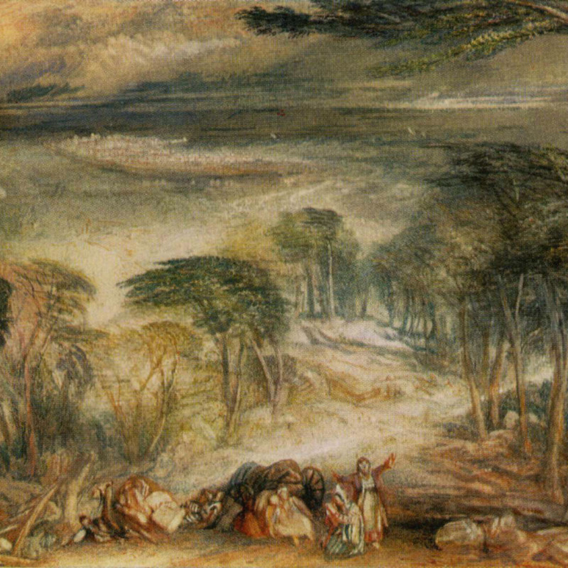 Joseph Mallord William Turner - Cedars of Lebanon , 1832-4