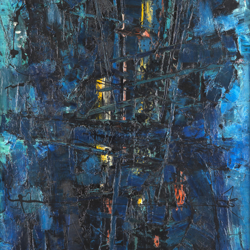 Frank Avray Wilson, FAW803 - Blue Constellation, c. 1954