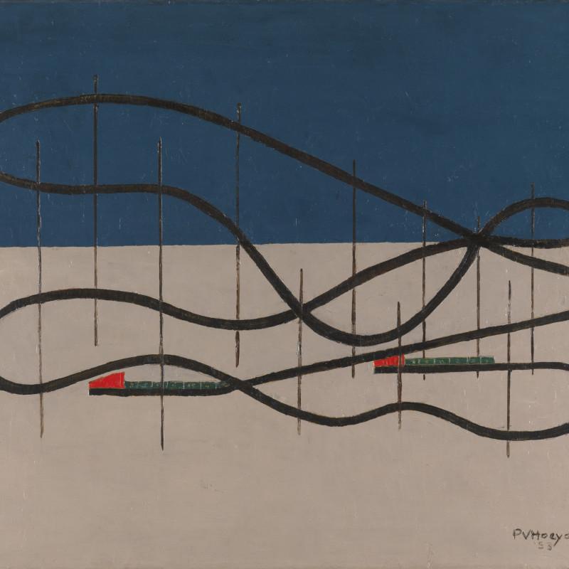 Paul Van Hoeydonck, PVH080 - Composition, 1953