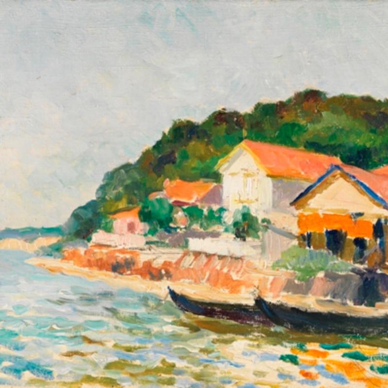 Mildred Bendall, Vue de l'Herbe, Bassin d'Arcachon, c. 1928