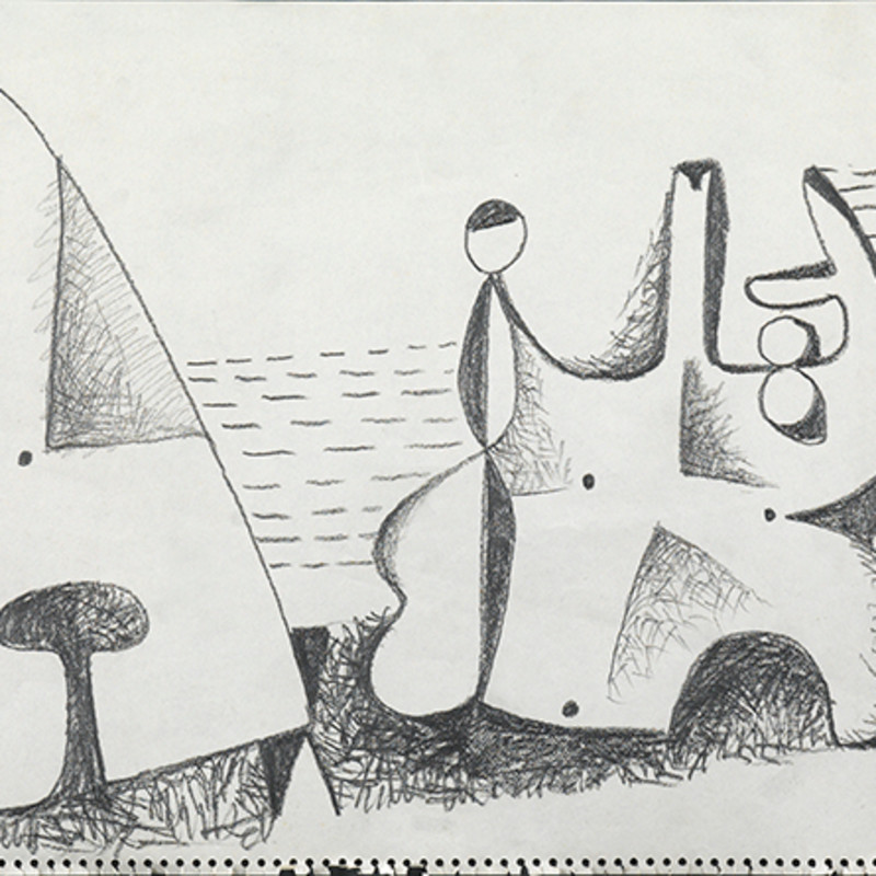 Caziel, WC705 - Composition, c. 1950