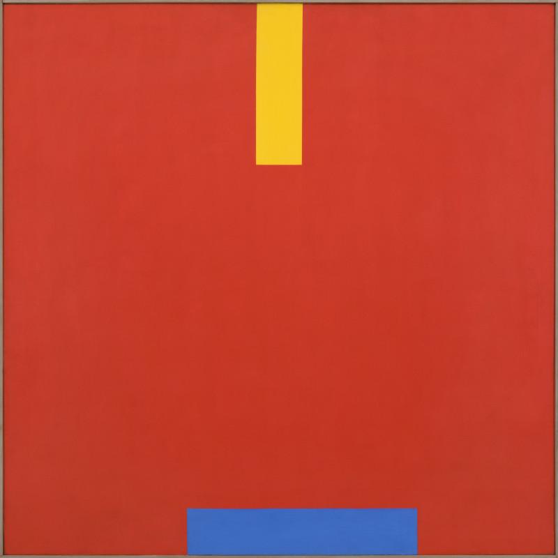 John Plumb, Blue Shift on Red Field, 1968