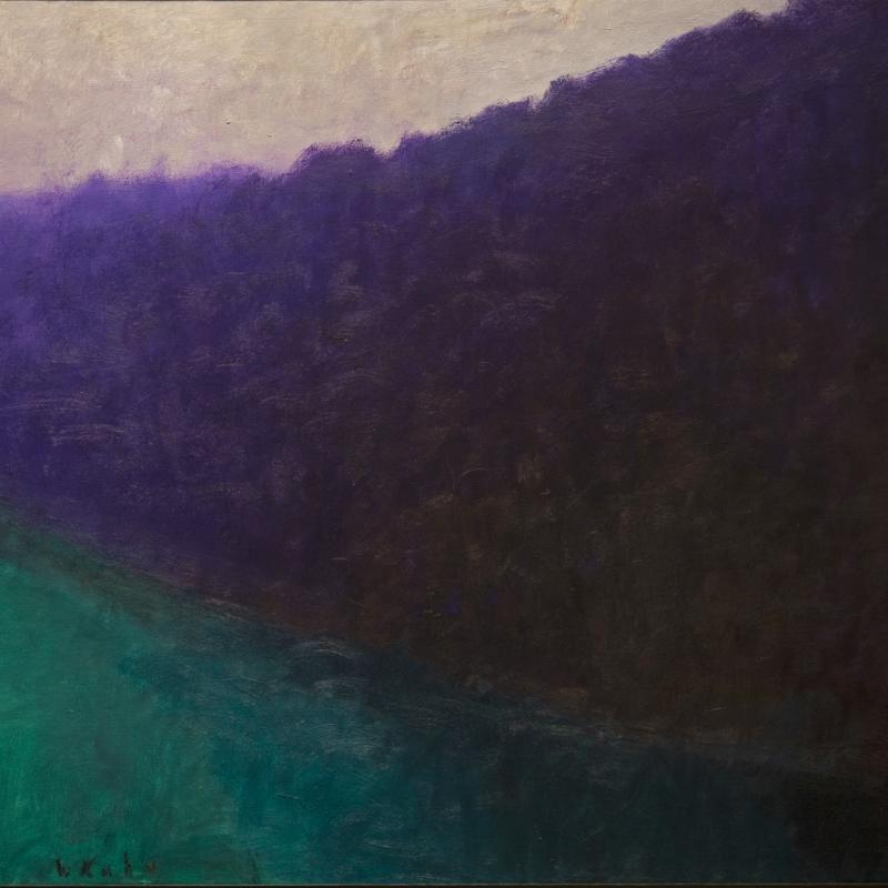 Wolf Kahn, Dark Complementaries II, 1990