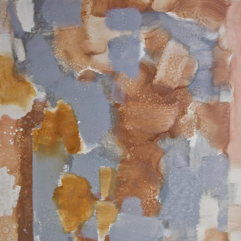 Carl Holty, Untitled (Orange, Gray), Circa 1972