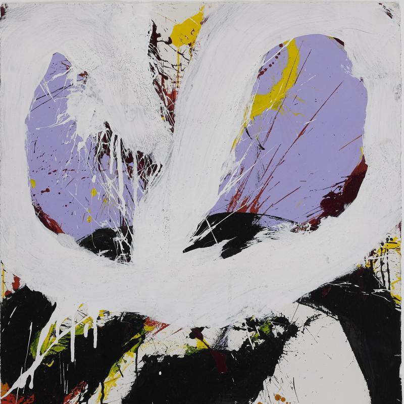 Norman Bluhm, Lavender, Red, White, Black, 1967