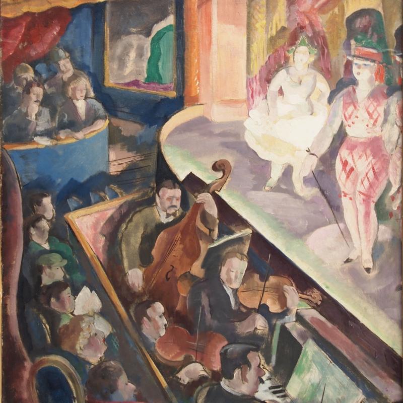 Anne Estelle Rice, In the Rue de la Gaieté, ca. 1924