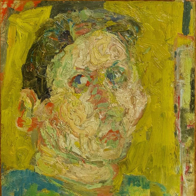 André Cottavoz, Portrait Jaune, 1955