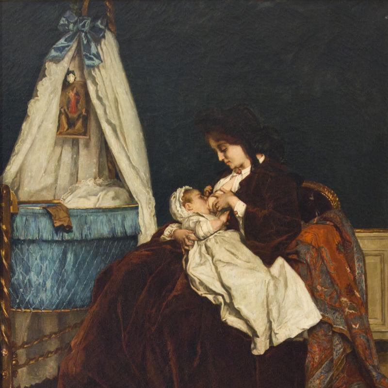 Alfred Emile Leopold Stevens, Tous les Bonheurs, 1880
