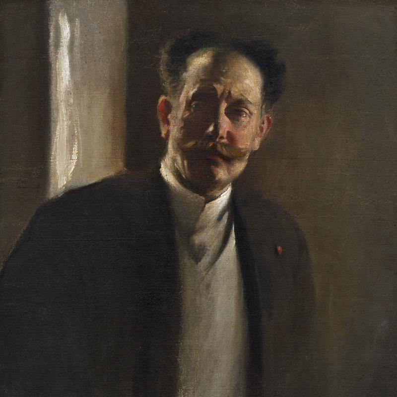 John White Alexander, Study of a Man (with Moustache), circa mid-1890s