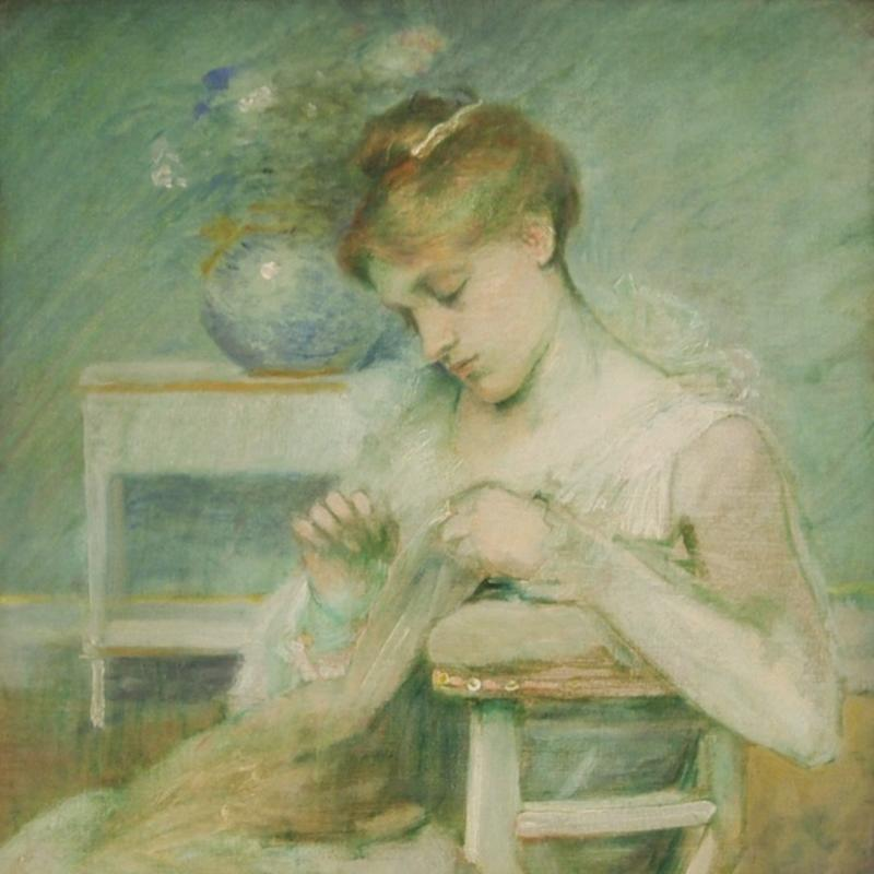 Julian Alden Weir, Composition in Green, Circa 1885