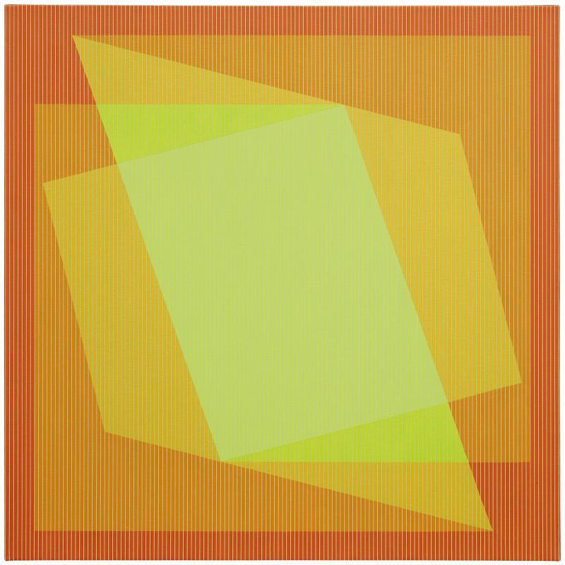 Julian Stanczak, Sharing in Orange, 1970