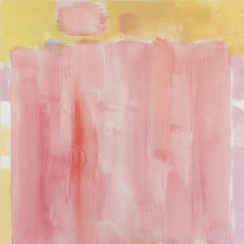 Carl Holty, Untitled (Rose, Yellow), 1971