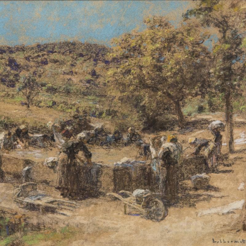 Léon-Augustin L'Hermitte, Les Lavandieres en Provence, 1924
