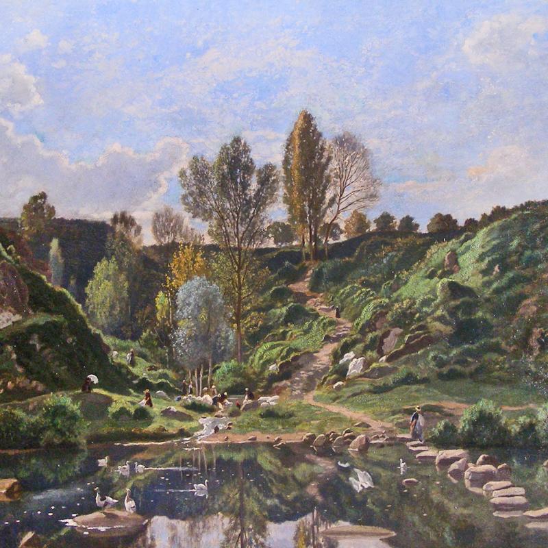 Louis Herisson, Barbizon Landscape, 1811-1859