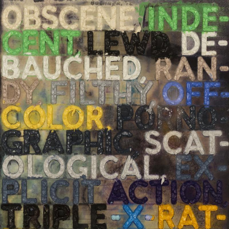 Mel Bochner, Obscene, 2012
