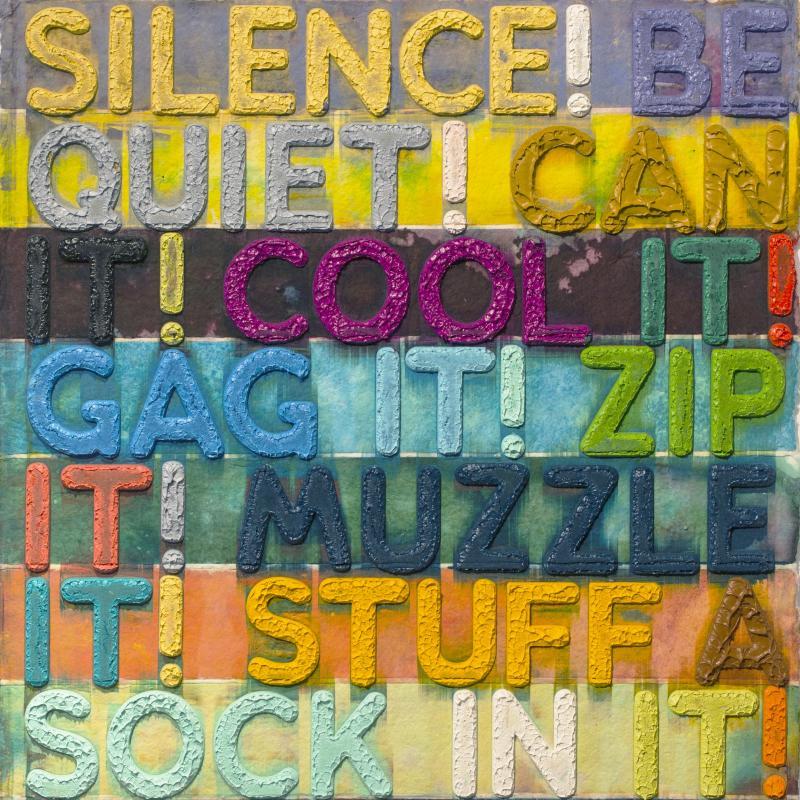Mel Bochner, Silence, 2012