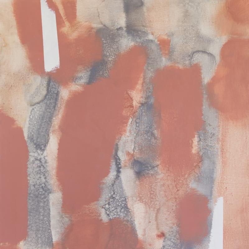 Carl Holty, Untitled (Red, Gray) #2, 1969