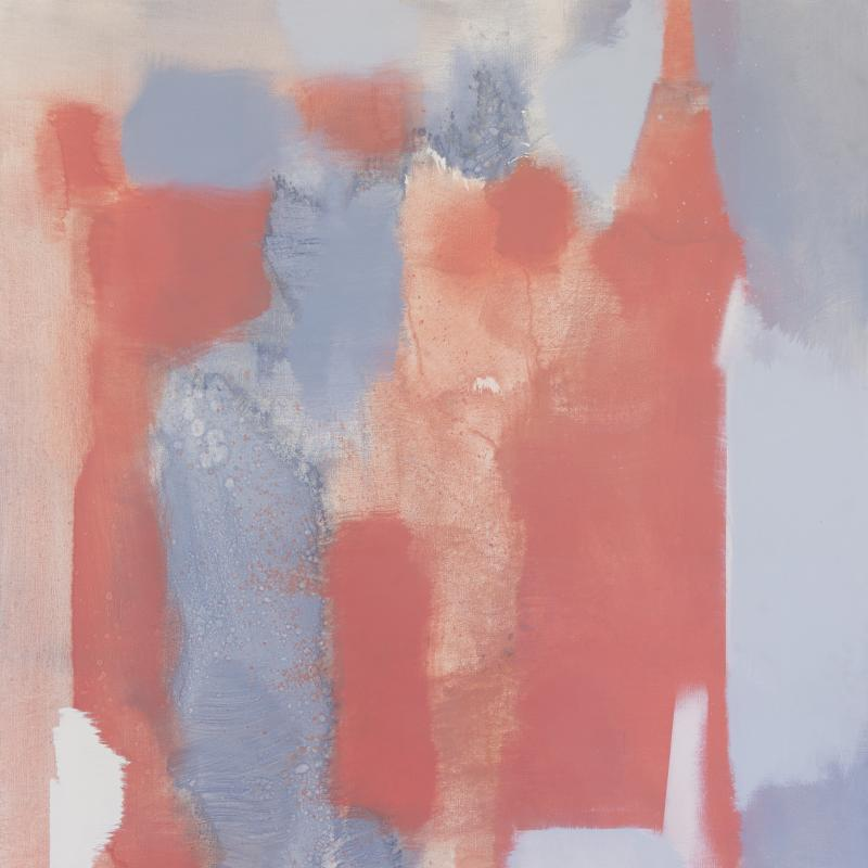 Carl Holty, Untitled (Red, Gray) #4, Circa 1969