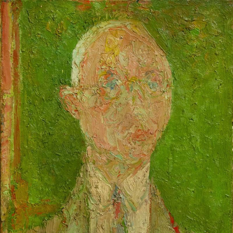 André Cottavoz, Portrait of Mark Rosenhaft, 1955