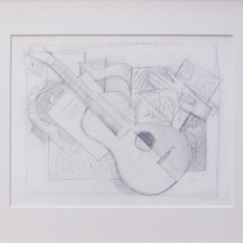 Simka Simkhovitch, Abstract with Guitar, 1953