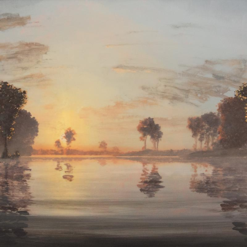 Stephen Hannock, Flooded River: North of the Oxbow, 2001